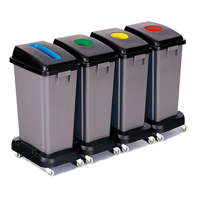 Contenedores reciclaje ruedas