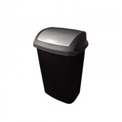 papelera tapa pivotante negra 25 litros