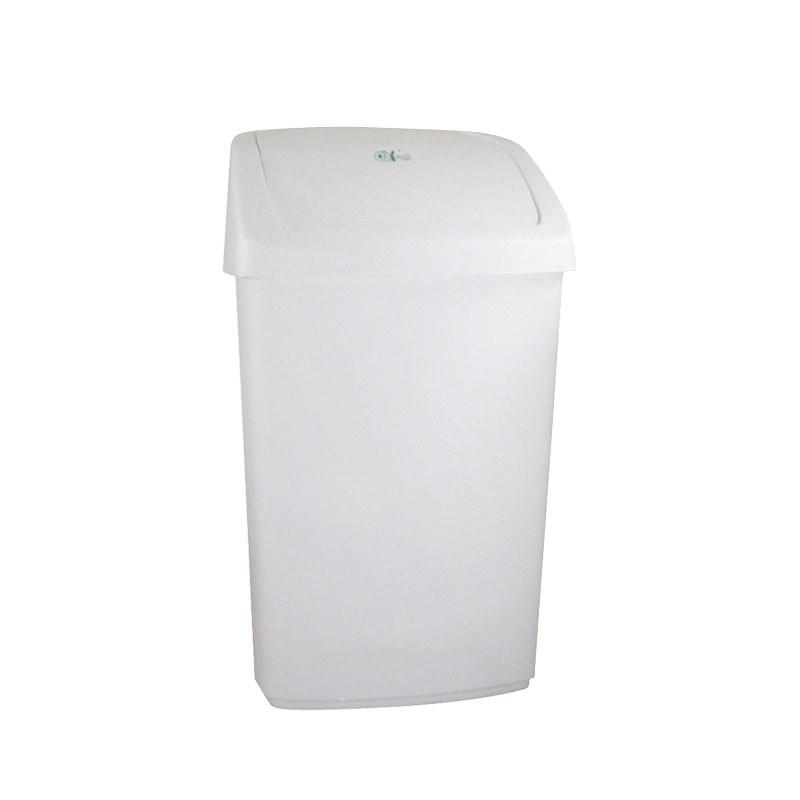 Papelera abatible blanca 50 litros