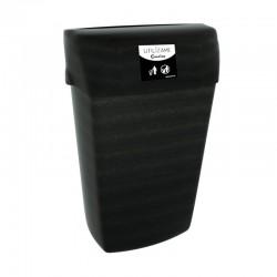 papelera negra reciclada