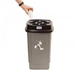 Cubo reciclaje vasos vending