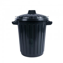 cubo basura industrial con tapa