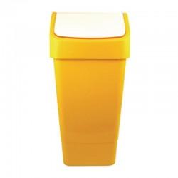 Papelera reciclaje amarilla envases