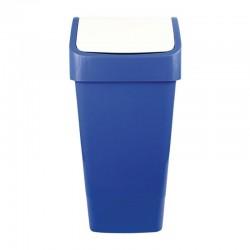 Papelera reciclaje azul cartón