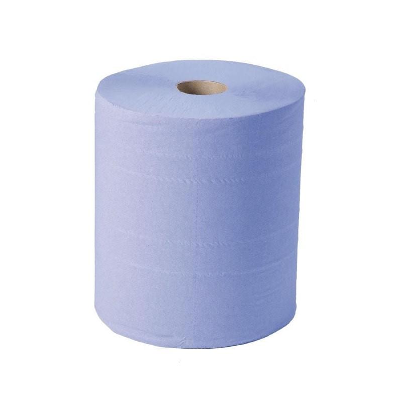 bobina papel secamanos azul