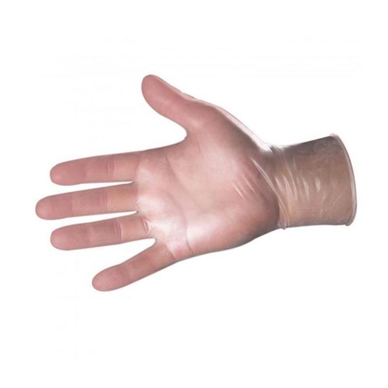 guantes de vinilo transparentes
