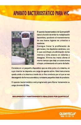 aparato bacteriostático wc